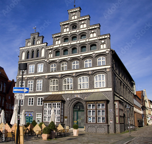 Historic chamber of commerce building, Lueneburg, Germany