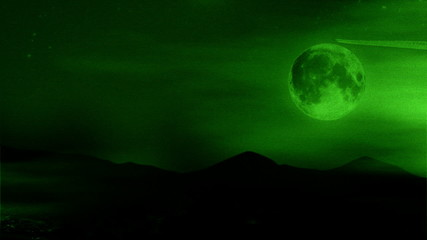 night vision moon