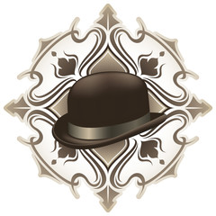 Stylish vintage background with hat.