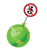 Concept of earth to regulate the growing global population poster