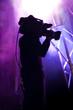 Cameraman at rock concert