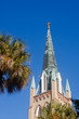 Old Church Steeple in Palm Trees