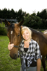 Pferd mit Teen