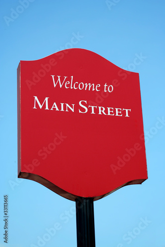 Welcome to Main Street sign