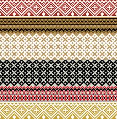 American culture pattern. Vector illustration