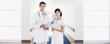 Doctor and nurse in hospital corridor