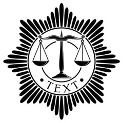 scales of justice seal (symbol)
