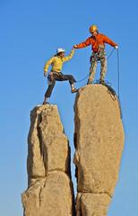 Team of rock climbers.