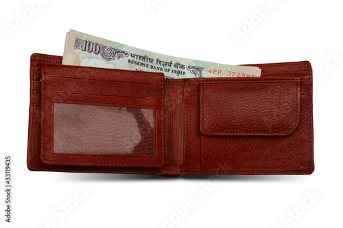 Indian Rupees and Wallet