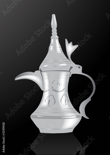 Middle Eastern Arabic Coffee Pot - Vector Illustration