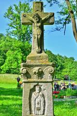 Old Greek Catholic cross in Rzepedz, Bieszczady, Poland