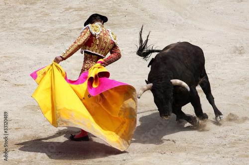 In de dag Stierenvechten corrida