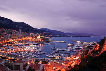 Monaco Waterfront at Night