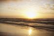 Sun on horizon over ocean