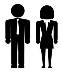 Geschäftsmann, Geschäftsfrau