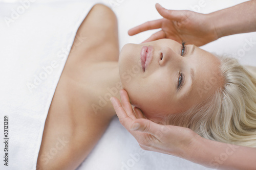 Woman enjoying facial
