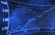 Stock Market Graph on Blue Background