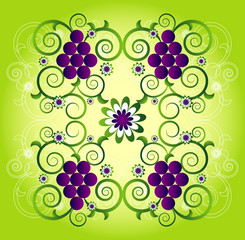 pattern with flower