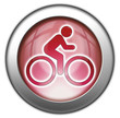 "Red glossy 3D effect button ""Bicycle Symbol / Bicycle Trail"""