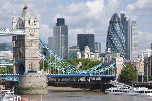 Tower Bridge and the Gherkin