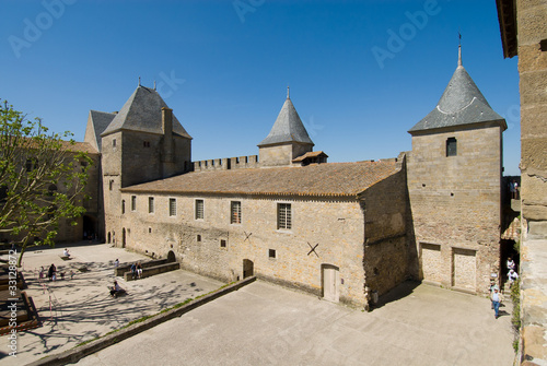 inner building of carcassonne chateau