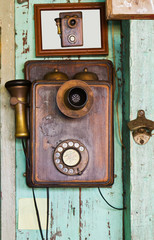 An old telephone  vintage