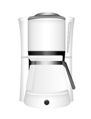 coffee machine with glass beaker
