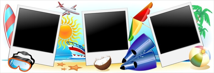 Foto Vacanze Mare Sfondo-Summer Holidays Background-Vector-2