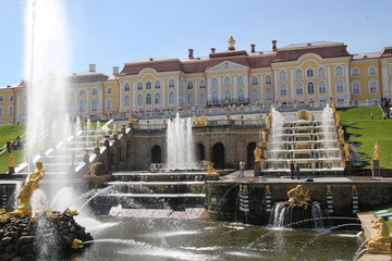 Big cascade in Peterhof