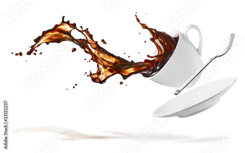 canvas print picture coffee splash