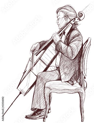 violoncellist © Isaxar