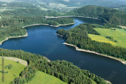 Barrage de Jezioro Pilchowickie , Siedlęcin, Pologne