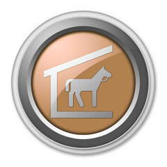 "Bronze 3D Style Button ""Stable"""
