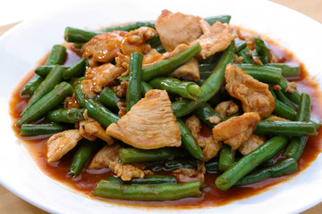 "Thai Food ""Prik Khing Pork"""