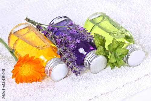 Wellness, massage with medical plants