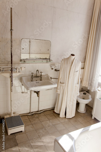 Bathroom of old house in turkey