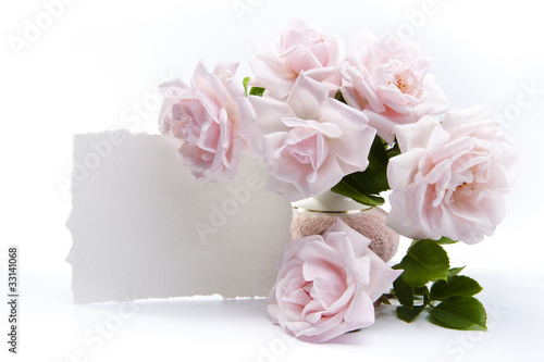 bouquet of roses for romantic greeting cards
