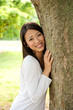 beautiful asian woman in the park