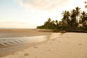 Fluss am Strand