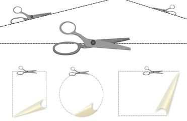 Set di ritaglia con forbici