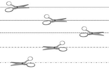 Set di ritaglio con forbici