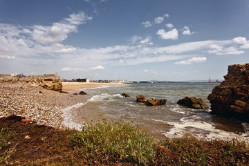 Small beach on the banks of the river Tejo.