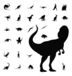 dinosaur silhouette collection