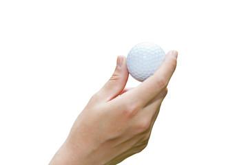 Handle golf balls