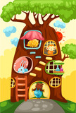 Tree house of animals