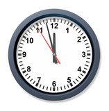 Urgent deadline with a clock poster