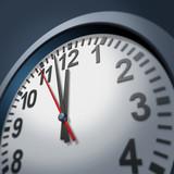 Urgency clock symbol poster