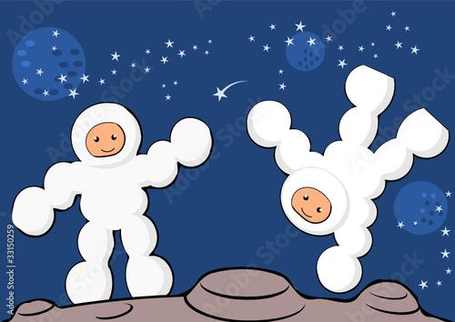 astronauts on planet
