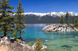 beautiful Lake Tahoe with view on Sierra Navada mountains