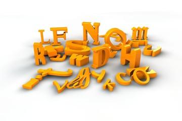 3D Buchstaben - orange